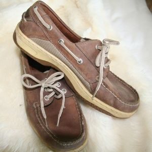 SPERRY TOPSIDER BROWN SZ 8.5W SLIP ON BOAT SHOES